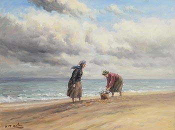 Charles J. McAuley, Gathering Driftwood at Morgan O'Driscoll Art Auctions