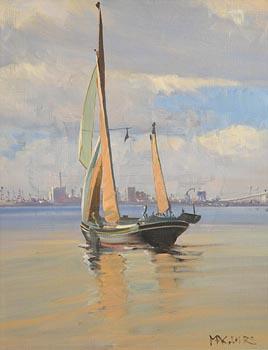 Cecil Maguire, Thames Sailing Barge at Morgan O'Driscoll Art Auctions
