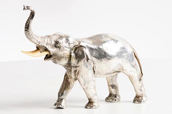 20th Century Oriental School, Elephant at Morgan O'Driscoll Art Auctions