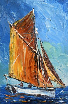 Liam O'Neill, Sailing off Spiddal, Galway at Morgan O'Driscoll Art Auctions