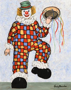 Gladys MacCabe, Dancing Clown with Tambourine at Morgan O'Driscoll Art Auctions