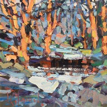 Arthur K. Maderson, Evening Light, Glenshelane, Co. Waterford at Morgan O'Driscoll Art Auctions