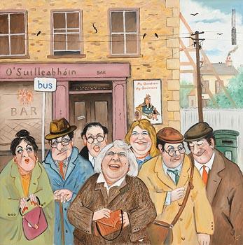 John Schwatschke, The Bar Stop at Morgan O'Driscoll Art Auctions