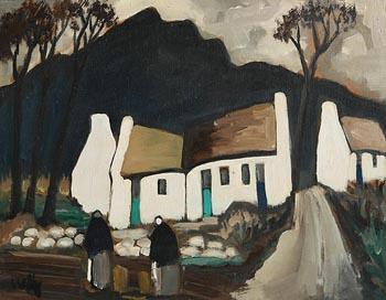 Markey Robinson, Shawlies at the Village at Morgan O'Driscoll Art Auctions