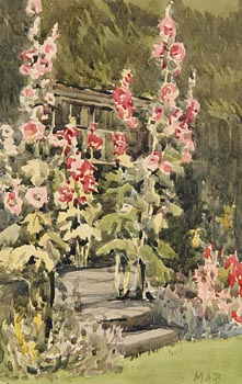 Mildred Anne Butler, Hollyhocks, Kilmurry at Morgan O'Driscoll Art Auctions
