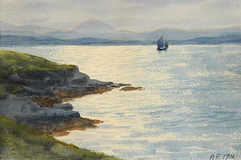 William Percy French, Boat in Seascape (1911) at Morgan O'Driscoll Art Auctions