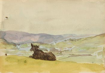 Jack Butler Yeats, Chewing the Cud (1909) at Morgan O'Driscoll Art Auctions