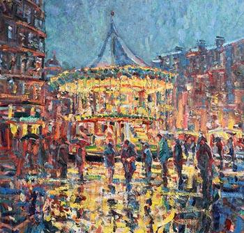 Arthur K. Maderson, Dusk, La Place de la Comedie, Montpellier at Morgan O'Driscoll Art Auctions