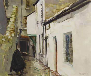 Cecil Maguire, Buttermilk Lane, Galway (1977) at Morgan O'Driscoll Art Auctions