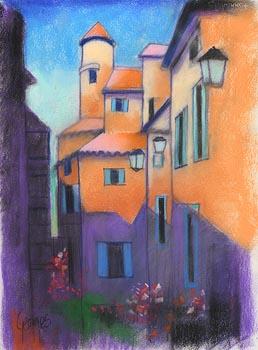 George Callaghan, Italian Village, Cortona at Morgan O'Driscoll Art Auctions