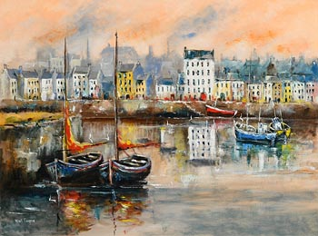 Niall Campion, The Claddagh, Galway at Morgan O'Driscoll Art Auctions