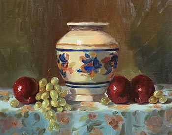 Lorraine Christie, Still Life with Fruits at Morgan O'Driscoll Art Auctions