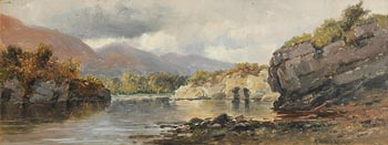 Alexander Williams, Dundag Bay, Muckross Lake, Killarney at Morgan O'Driscoll Art Auctions
