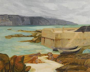Barbara Warren, Island Harbour, Lettermore, Co Galway at Morgan O'Driscoll Art Auctions