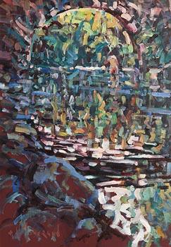 Arthur K. Maderson, The Old Bridge, at Aveze, near Le Vigan, France at Morgan O'Driscoll Art Auctions