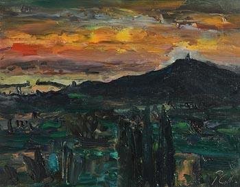Peter Collis, Dun Laoghaire Harbour and Killiney Hill at Morgan O'Driscoll Art Auctions