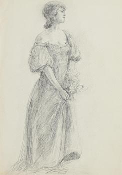 John Butler Yeats, The Evening Gown at Morgan O'Driscoll Art Auctions