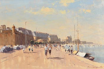 James Longueville, Evening on the Quay, St. Malo at Morgan O'Driscoll Art Auctions