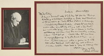 Jack Butler Yeats, Letter to Mr. Rutler on March 26th (1913) at Morgan O'Driscoll Art Auctions