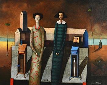 Edwin Rojas, Las Hermanas Moruno at Morgan O'Driscoll Art Auctions