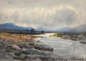 William Percy French, A Bogland Scene at Morgan O'Driscoll Art Auctions
