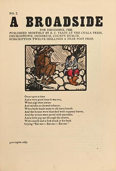 Jack Butler Yeats, A Broadside from December (1908) at Morgan O'Driscoll Art Auctions