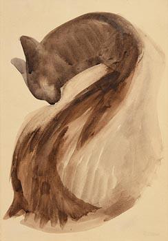 Gerard Dillon, Cat at Morgan O'Driscoll Art Auctions