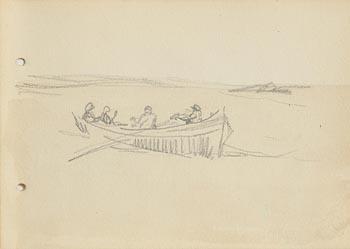 Jack Butler Yeats, Men of Aran at Morgan O'Driscoll Art Auctions