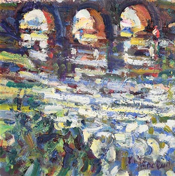 Arthur K. Maderson, Evening Study, near Lismore Bridge at Morgan O'Driscoll Art Auctions