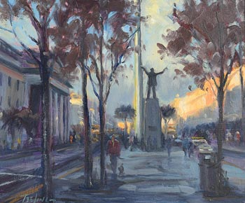 Norman Teeling, O'Connell St. Dublin at Morgan O'Driscoll Art Auctions