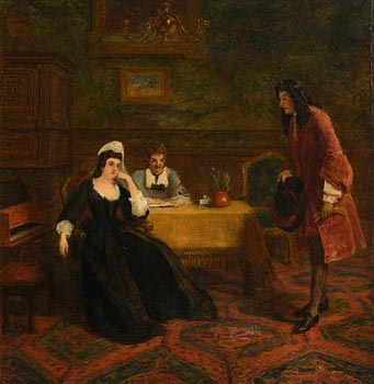 attributed to Sir William Powell, Sir Roger De Coverley and the Beautiful Widow at Morgan O'Driscoll Art Auctions