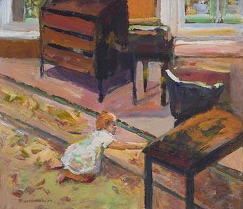 James O'Halloran, Child Playing on Rug (1989) at Morgan O'Driscoll Art Auctions