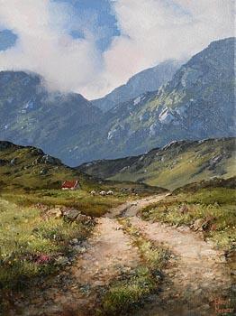 Eileen Meagher, Mountain Trail in the Twelve Bens, Connemara at Morgan O'Driscoll Art Auctions