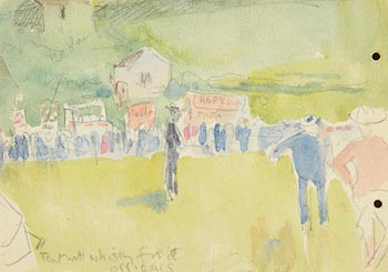 Jack Butler Yeats, Tent with Whiskey for the Officials at Morgan O'Driscoll Art Auctions