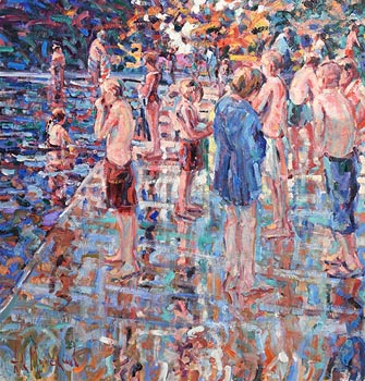 Arthur K. Maderson, Point of Sunset, Lismore River Pool at Morgan O'Driscoll Art Auctions