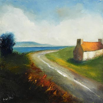 Padraig McCaul, A Country Road (2014) at Morgan O'Driscoll Art Auctions
