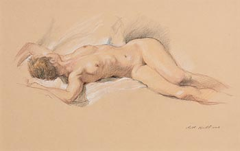Harry Holland, Reclining Female Nude at Morgan O'Driscoll Art Auctions