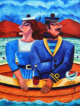 Graham Knuttel, Sailors at Morgan O'Driscoll Art Auctions