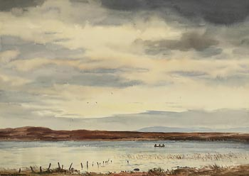 Frank J. Egginton, Fishing Lough Furnace, Co. Mayo at Morgan O'Driscoll Art Auctions
