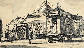 Patrick Leonard, Fossett's Circus (1942) at Morgan O'Driscoll Art Auctions