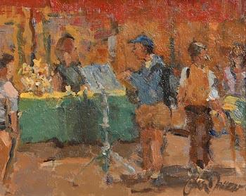Liam Treacy, Reading the Menu at Morgan O'Driscoll Art Auctions