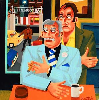 Graham Knuttel, Doing a Deal at Morgan O'Driscoll Art Auctions