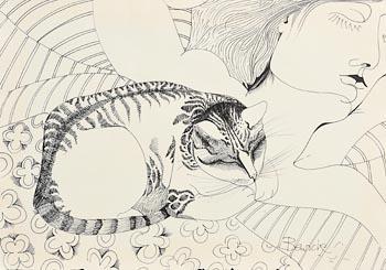 Pauline Bewick, Cat at Morgan O'Driscoll Art Auctions