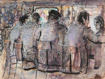 George Campbell, Men at the Bar at Morgan O'Driscoll Art Auctions