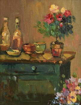 Liam Treacy, Still Life with Bouquet of Flowers at Morgan O'Driscoll Art Auctions