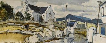 Cecil Maguire, Connemara Village (1968) at Morgan O'Driscoll Art Auctions