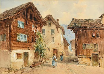 William Bingham McGuinness, Continental Village at Morgan O'Driscoll Art Auctions
