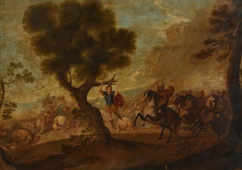 17th Century Italian/Dutch School, Warriors at Morgan O'Driscoll Art Auctions