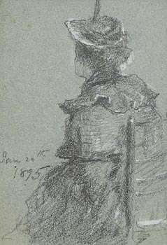 John Butler Yeats, Seated Female (1895) at Morgan O'Driscoll Art Auctions