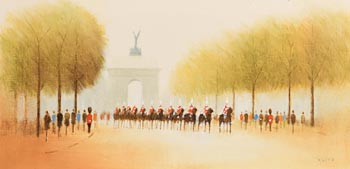 Anthony Robert Klitz, Horseguards at Wellington Arch at Morgan O'Driscoll Art Auctions